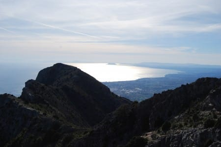 Sea and Gibraltar from La Concha, Marbella Mountain