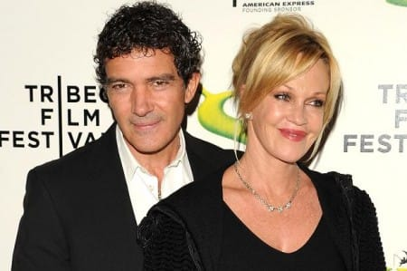 Antonio Banderas and Melanie Griffith in marbella film festival