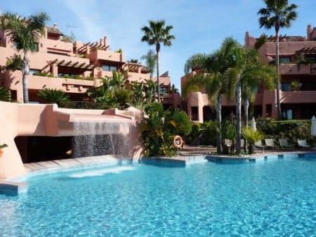 Luxury beach front garden apartment, Cabo Bermejo, New Golden Mile, Estepona