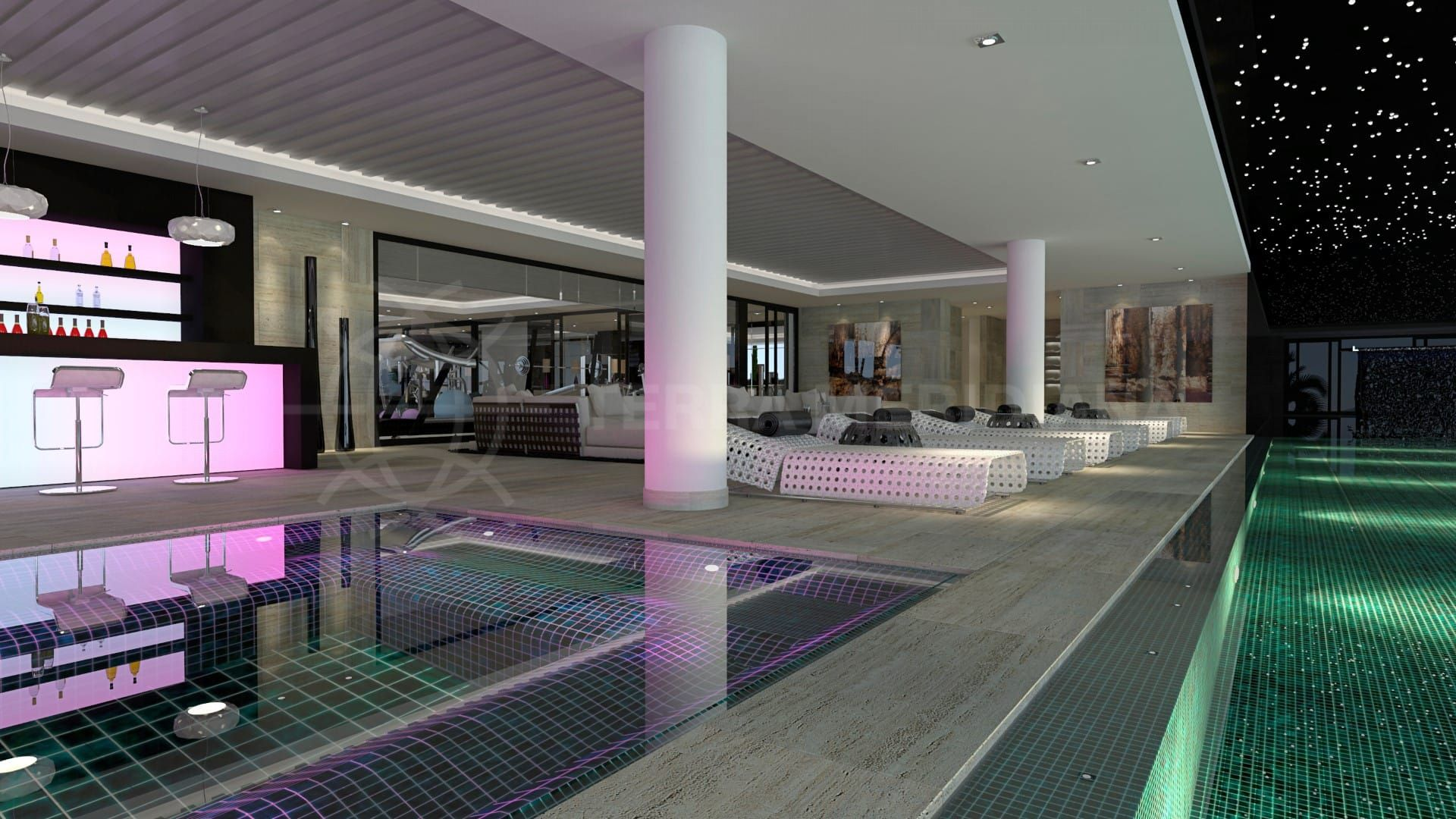Terra meridiana awarded exclusivity for heaven 11 for Indoor natatorium design and energy recycling