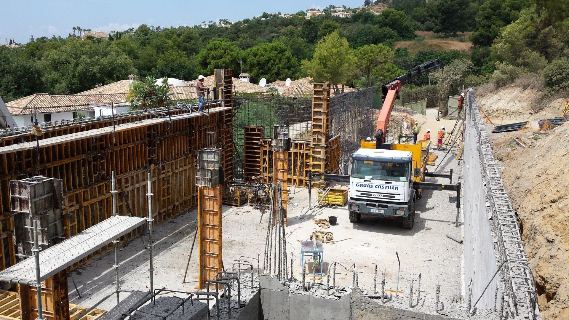 Construction D Une Piscine Étape 5 : construction de la piscine et de la terrasse