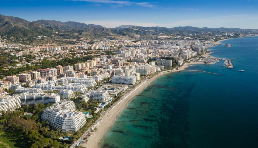 aerial view of the Costa del Sol