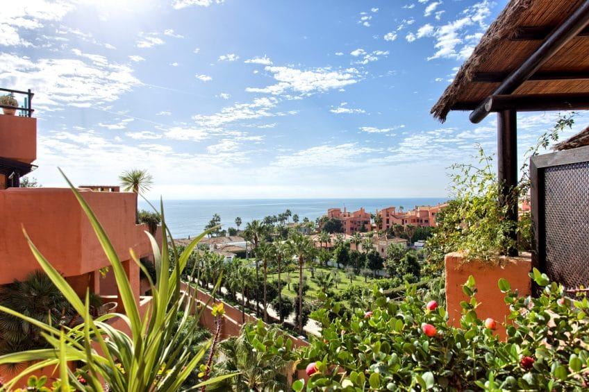 Views of garden and sea in Kempinski hotel