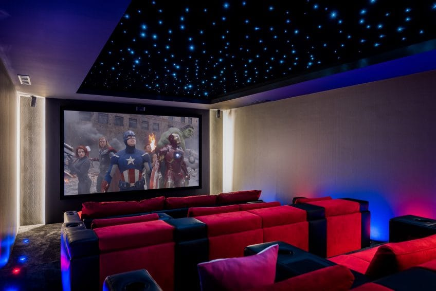 Cinema in Villa Mozart, Marbella