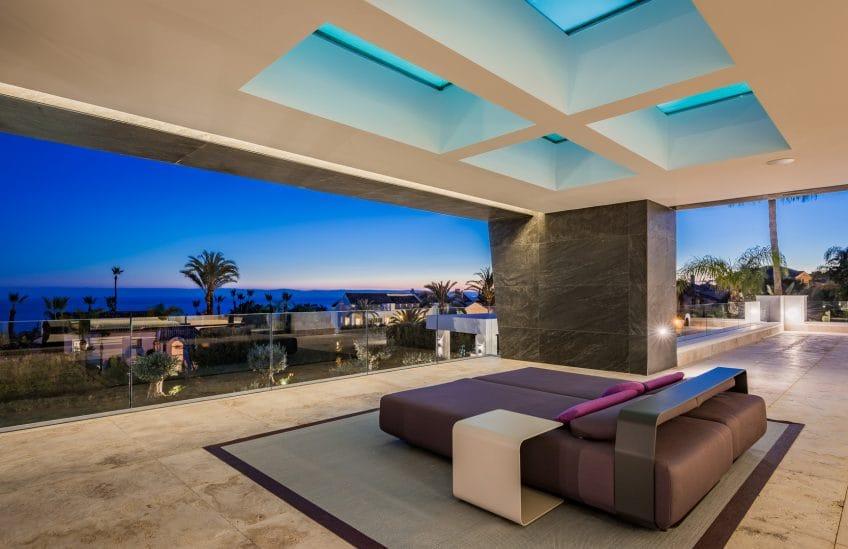 Terrace in Villa Mozart, Sierra Blanca