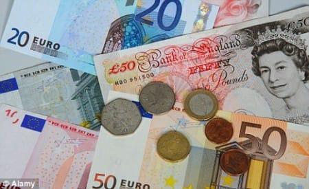 Pounds-euros
