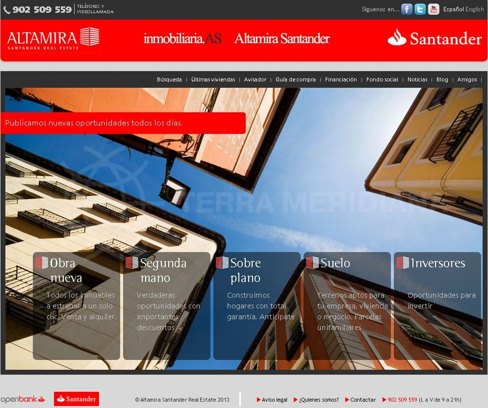 Santander gets back into the property market