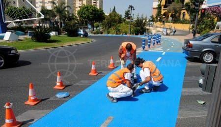 Nuevo carril bici en Estepona