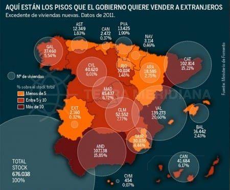 New Property Map of Empty properties in Spain