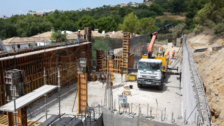 Fase 5: construcción de la piscina exterior y de la terraza