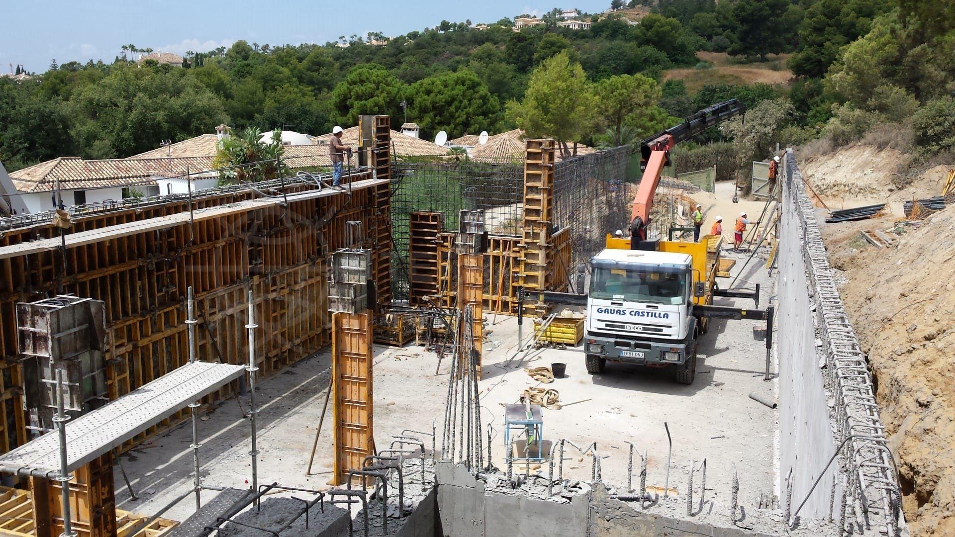 Étape 5 : construction de la piscine et de la terrasse extérieure