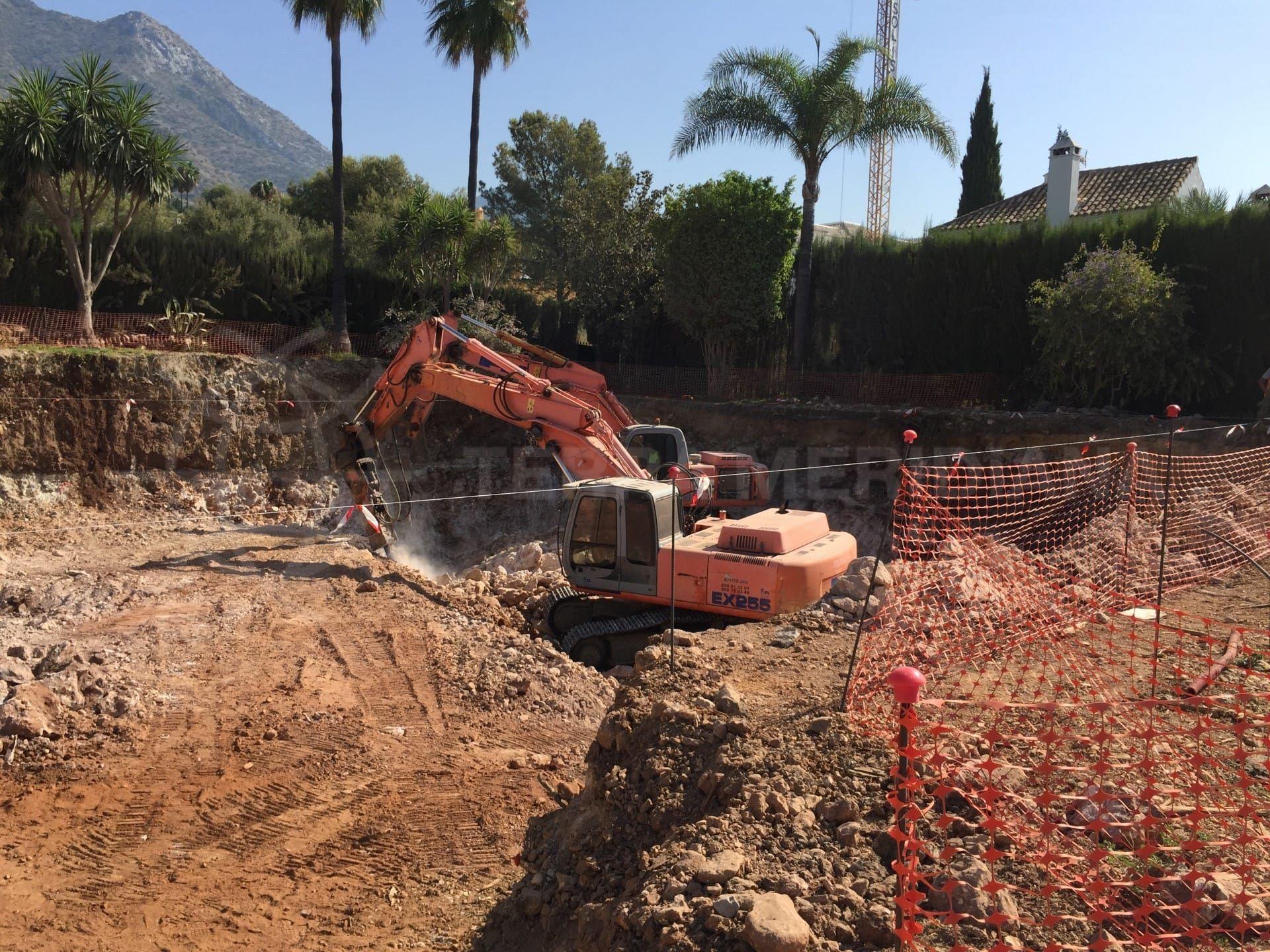 Étape 1 : Debut des travaux de terrassement