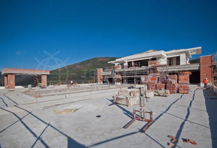 Stage 6: Finishing the façade, terraces, and swimming pools