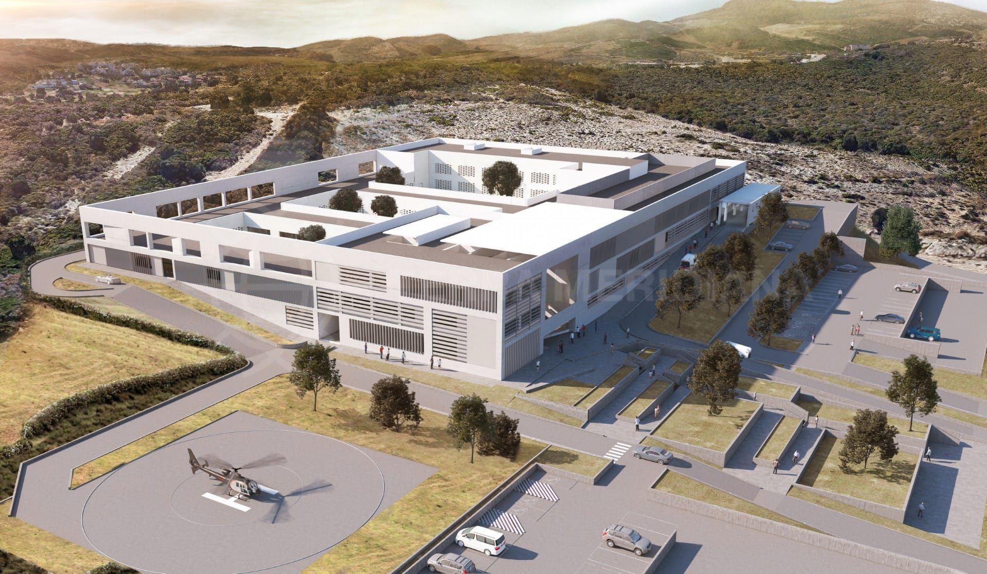 Las obras de construcción del nuevo hospital de Estepona terminaron en Diciembre de 2018