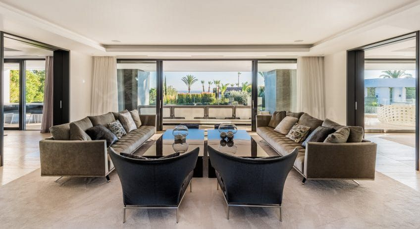 Living area in Villa Mozart