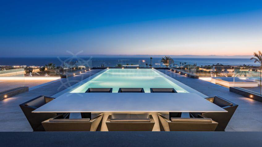 Vue sur la mer Villa Mozart Marbella