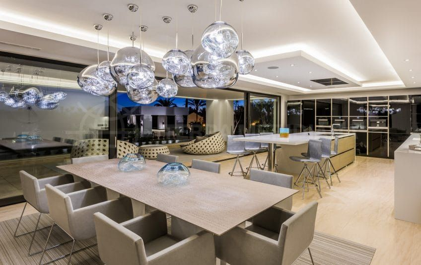 Dining area of Villa Mozart in Marbella