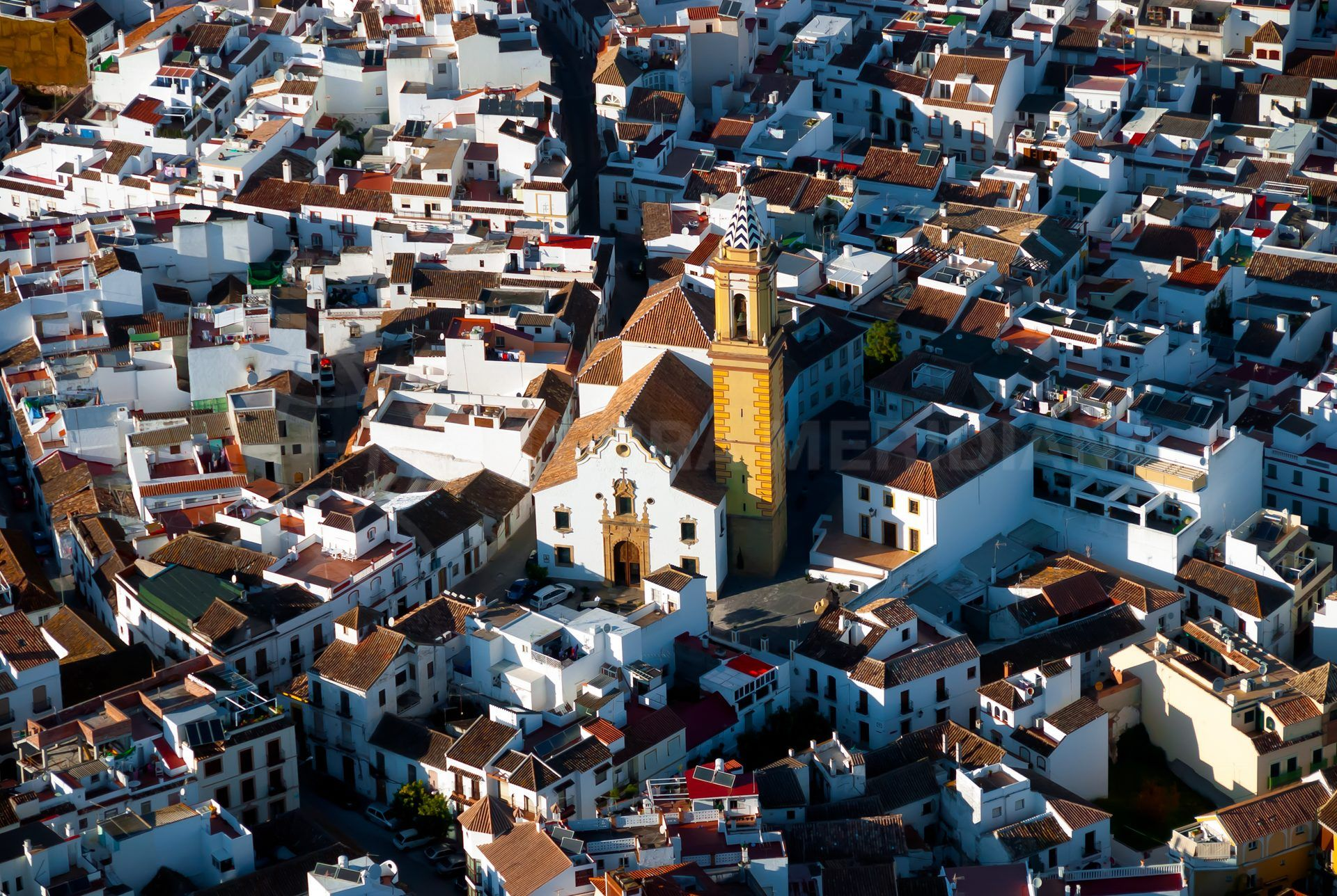 aerial view of Estepona old town