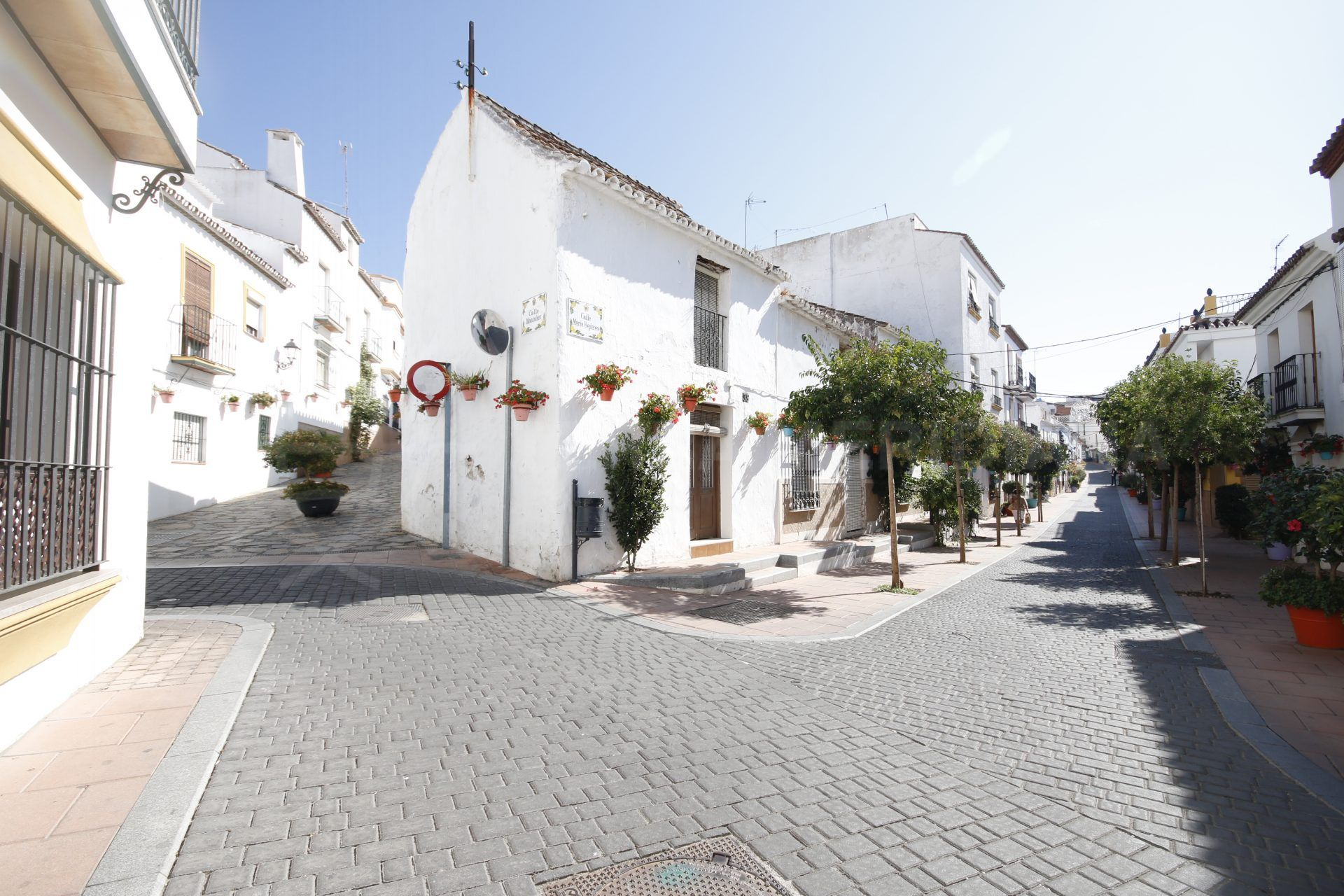cobbled street in Estepona