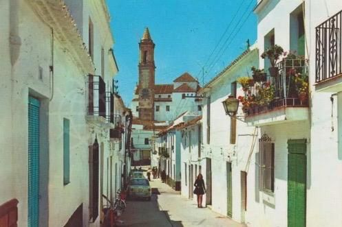 Estepona old town streets and church