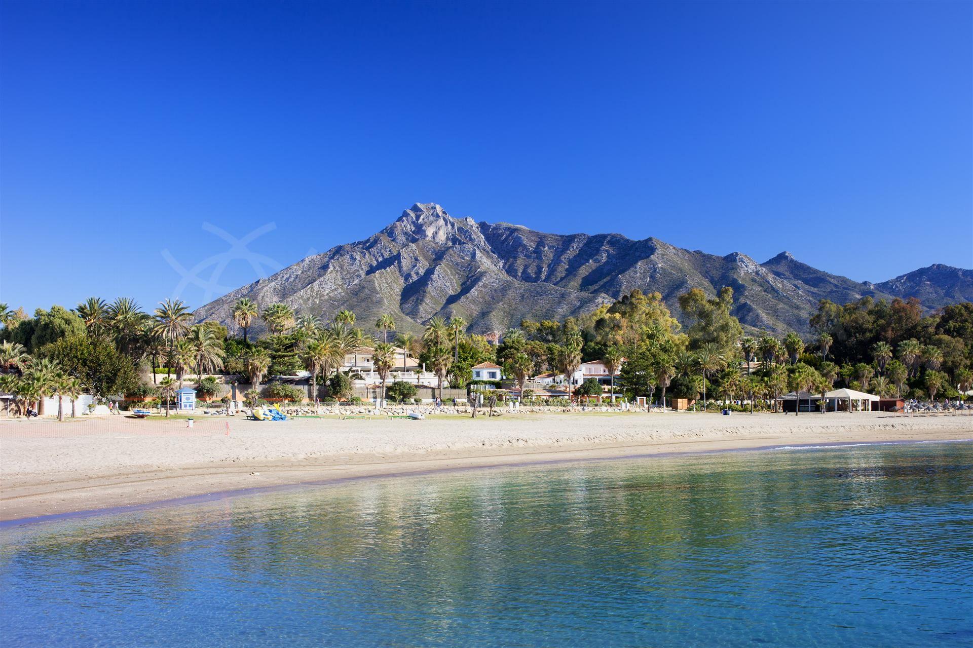 Playa de la milla de oro Marbella