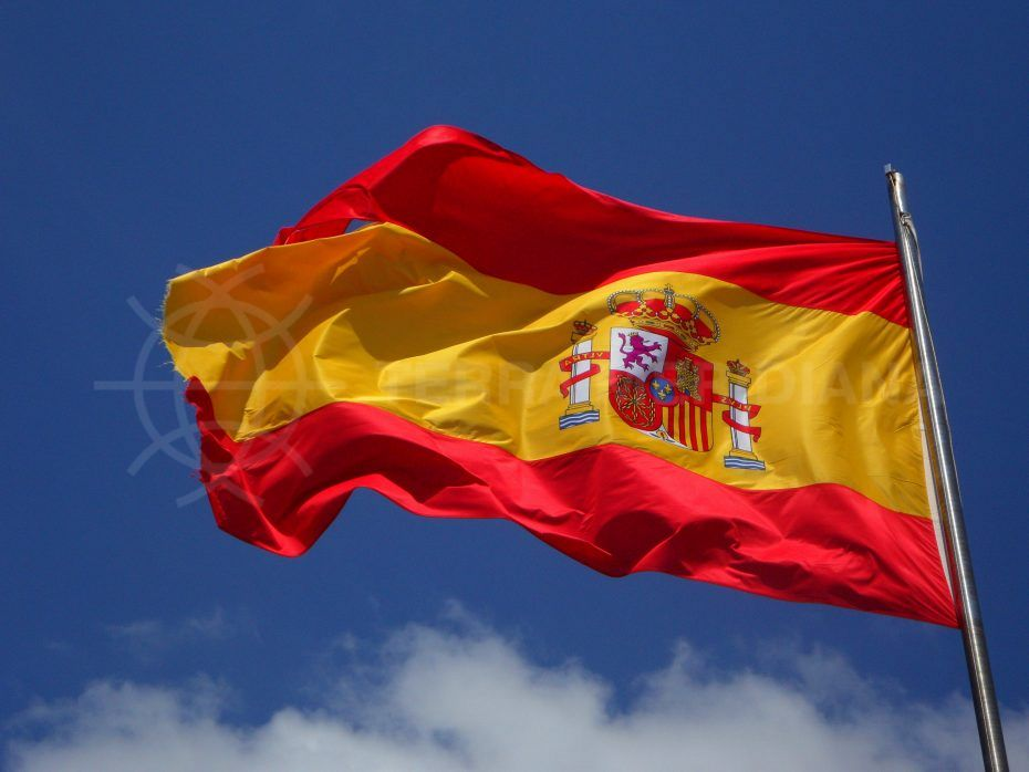 spanish flag blue sky