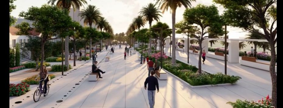 Estepona town hall presents project for beachside boulevard park