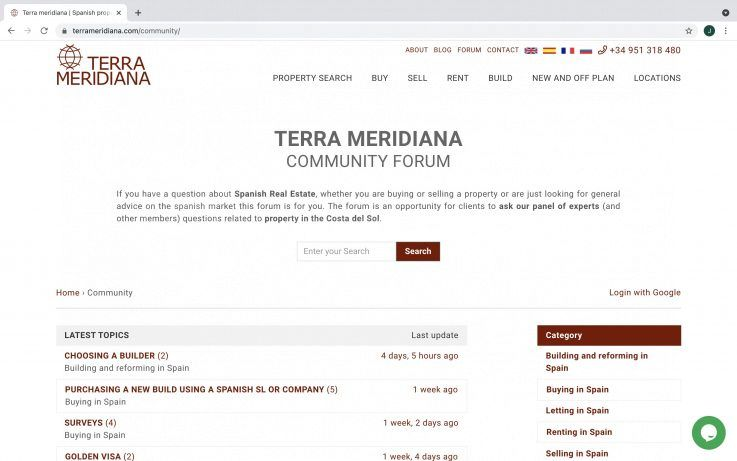 Our new forum for property advice in Spain